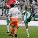 Juego de fútbol de Kaposvar-Ferencvaros Imagen de archivo libre de regalías