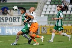 Juego de fútbol de Kaposvar-Ferencvaros Imagen de archivo