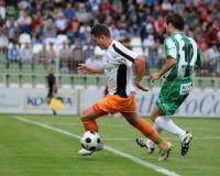 Juego de fútbol de Kaposvar-Ferencvaros Imagenes de archivo