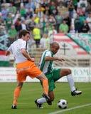 Juego de fútbol de Kaposvar-Ferencvaros Fotos de archivo