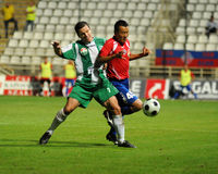 Juego de fútbol de Kaposvar-Nyiregyhaza Imagen de archivo libre de regalías