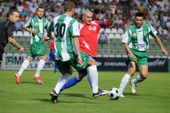 Juego de fútbol de Kaposvar-Nyiregyhaza Imagenes de archivo