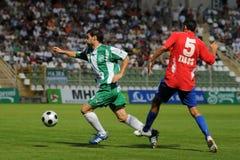 Juego de fútbol de Kaposvar-Nyiregyhaza Imágenes de archivo libres de regalías