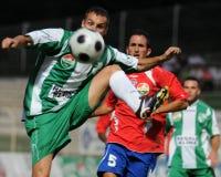 Juego de fútbol de Kaposvar-Nyiregyhaza Fotos de archivo