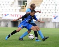 Juego de fútbol de la juventud de Dakovo - de Tuzla Fotos de archivo