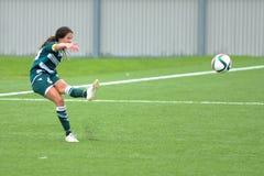 Juego de fútbol de las mujeres Imágenes de archivo libres de regalías