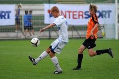 Juego de fútbol de Trnava - de Djursholm Fotos de archivo