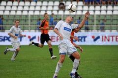 Juego de fútbol de Trnava - de Djursholm Fotografía de archivo