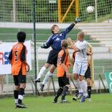 Juego de fútbol de Trnava - de Djursholm Foto de archivo