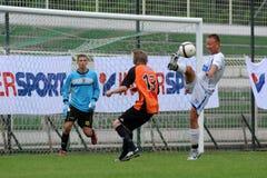 Juego de fútbol de Trnava - de Djursholm Imagen de archivo