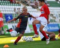 Juego de fútbol de Tuzla-munkachevo Imagen de archivo
