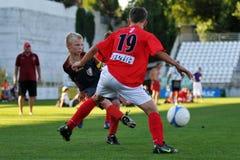 Juego de fútbol de Tuzla-munkachevo Fotografía de archivo
