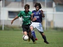Juego de fútbol inferior del oeste 17 de Kaposvar - de Syfa Fotografía de archivo