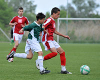 Juego de fútbol U15 Imágenes de archivo libres de regalías