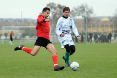 Juego de fútbol U19 Fotos de archivo libres de regalías