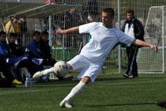Juego de fútbol de Kaposvar - de Debrecen u17 Fotografía de archivo libre de regalías