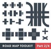 Juego de herramientas del mapa de camino Fotos de archivo libres de regalías