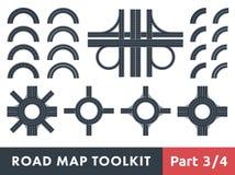 Juego de herramientas del mapa de camino Imagen de archivo libre de regalías