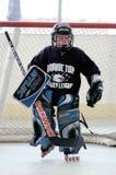Juego de hockey del rodillo de la juventud Imagenes de archivo