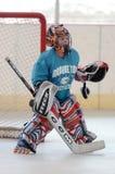 Juego de hockey del rodillo de la juventud Imágenes de archivo libres de regalías