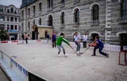 Juego de hockey en festival de los deportes Imagenes de archivo