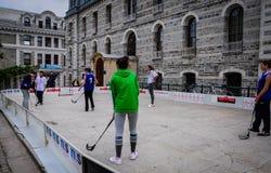 Juego de hockey en festival de los deportes Fotografía de archivo