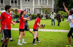 Juego de Korfball en festival de los deportes Fotos de archivo