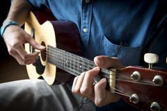 Juego de la guitarra Foto de archivo