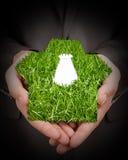 Juego de la hierba en manos Imagen de archivo