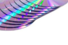 Juego de la luz en los discos CD. Fotografía de archivo