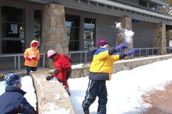 Juego de la nieve Imagen de archivo libre de regalías
