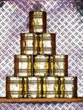 Juego de la pirámide de la lata imagen de archivo
