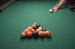 Juego de la piscina (billar) Fotos de archivo libres de regalías