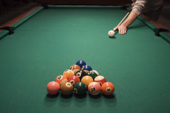 Juego de la piscina (billar) imagen de archivo libre de regalías