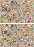 Juego de la representación visual de las diferencias de los iconos Imagen de archivo libre de regalías