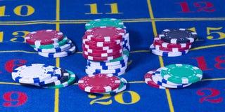 Juego de la ruleta del casino imagenes de archivo