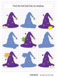Juego de la sombra con los sombreros de la bruja Fotos de archivo libres de regalías