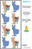 Juego de la sombra - conejitos y zanahorias Imágenes de archivo libres de regalías