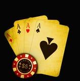Juego de la tarjeta stock de ilustración