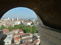 Juego de la vieja escena de la ciudad del trono en la fractura Croacia Fotografía de archivo