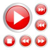Juego de los botones Imagenes de archivo