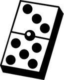 Juego de los dominós ilustración del vector