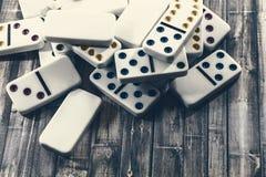 Juego de los dominós Fotos de archivo libres de regalías
