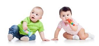 Juego de los niños de los bebés Fotos de archivo libres de regalías