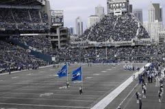 Juego de los Seattle Seahawks Foto de archivo libre de regalías