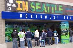 Juego de los Seattle Seahawks Imagenes de archivo