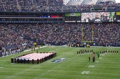 Juego de los Seattle Seahawks Imágenes de archivo libres de regalías