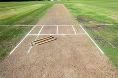 Juego de los wicketes de la echada del grillo Foto de archivo