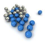 Juego de mármol azul Fotografía de archivo libre de regalías