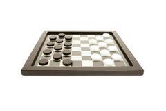 Juego de mesa blanco y negro Foto de archivo libre de regalías